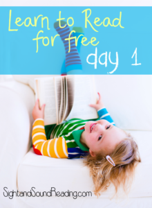 Learn to read free! Day 1 of a 120 day video series -explicit teaching with free worksheets included!