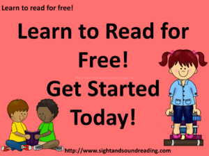 Learn to read for free! Get started today! Visit https://www.sightandsoundreading.com///newsite #learntoread #free #homeschool #specialneeds