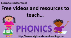 Teach Phonics!  Visit https://www.sightandsoundreading.com