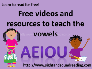 Free videos and resources to teach the vowels