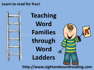 Teaching word families through word ladders -free videos and worksheets