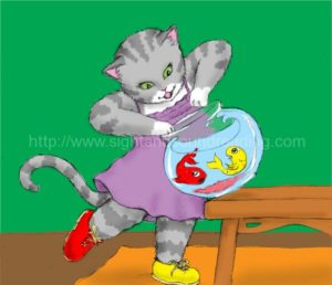 One red fish, one yellow fish, cat holding fishbowl: sight word reading tutor, writing journals, teaching reading in 15 minutes/day, reading videos, reading help for dyslexia, how to read, reading comprehension, word families, education, letter sounds, activity books, emergent reader,