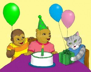 Bear is having a birthday party: Dolch word list, teaching aides, tutor for reading, reading practice, phonics, phonics activities, flashcards, how to teach sight words to struggling readers, free reading tutor, practice reading,