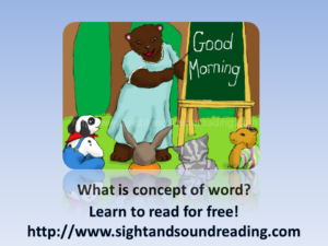 What is concept of word? Why is concept of word important when teaching beginning reading?