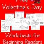 V is for Valentine!  Fun, free Valentine's Day worksheets for Beginning Readers