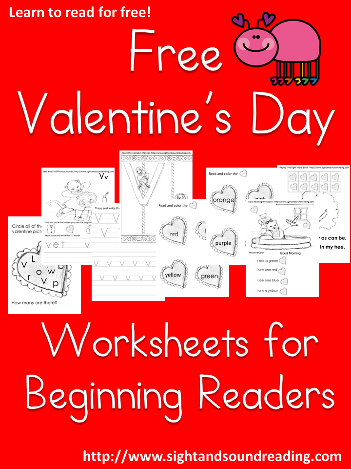 Fun, FREE Valentine\'s Day Worksheets for Beginning Readers