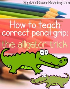 Teaching correct pencil grip. Help your child learn to hold a pencil correctly.