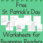 Free St. Patrick's Day Worksheets for Kindergarten
