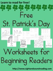 Free St. Patrick's Day Worksheets for Kindergarten