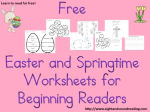Free Easter Worksheets for Kids. Great for kindergarten, or preschool!