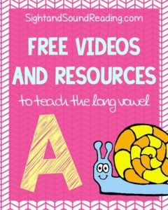 Learn to read!  Long A Videos to explicitly teach phonics.