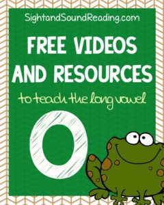 Learn to read! Long o Videos to explicitly teach reading and phonics.