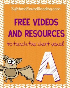 Learn to read: Short A Videos to explicitly teach phonics