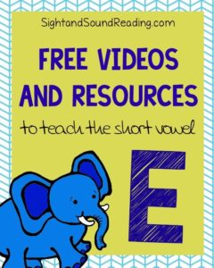 Learn to read!  Short E Videos to explicitly teach phonics
