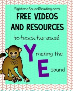 Learn to read! Vowel Y making the e sound Videos to explicitly teach reading and phonics.