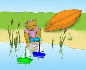 Bear playing with boats at the pond: word games, teaching children, phonics videos, reading, pre-kindergarten, free reading tutor, homeschoolers, explicit phonics instruction, practice reading, education, reading vocabulary, teaching letter sounds,