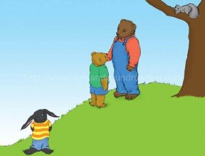 Bear makes up with little bear: electronic books, home school, learn to read, pre-kindergarten, abc, learn to read free, educational software, word ladders, reading videos,