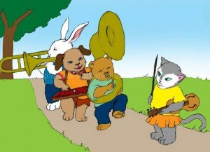 Animals playing in a marching band: phonics, remedial reading instruction, educators, homeschool reading curriculum, educational games, teaching reading made easy, educational software,