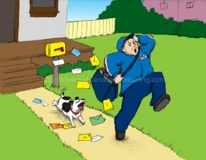 mailman getting chased by dog: ABC, letters, reading programs, teaching aids, learning, activity books, homeschool curriculum for reading, how to teach phonics to struggling readers, reading tutorial, teaching,