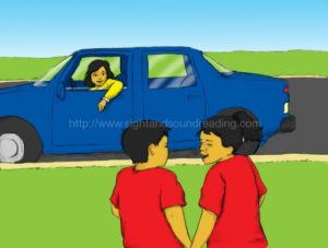 mom talking to children from the car. beginning sound worksheets, sight word reading tutor, teaching letter sounds, pre-kindergarten, learn to read free, Dolch, teaching, education, electronic books, home school, reading, reading vocabulary,