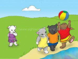 animals playing ball at the beach: reading readiness skills, Help your child to read in 15 minutes/day, teaching sight words to struggling readers, explicit phonics instruction, learning, emergent reader, word games, learn to read for free online, reading comprehension, reading techniques, reading,