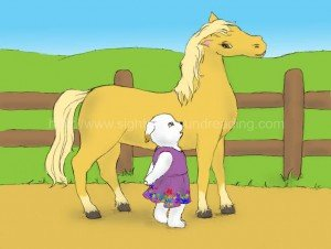 puppy talks to horse: teaching sight words to struggling readers, letters, phonics activities, reading comprehension, how to read, literacy, basic sight vocabulary, teaching letter sounds,