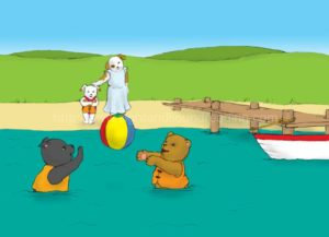 puppy at the beach with bear and dog: teaching reading in 15 minutes/day, learn to read for free online, teaching aids, multisensory methods to teach reading, decoding, reading practice, how to teach sight words to struggling readers, how to read, reading tutorial,