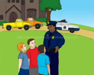 police talk with the children: flashcards, decoding, pre-kindergarten, children's education, phonemic awareness, teaching, letters, phonics program for struggling readers, free reading tutor,