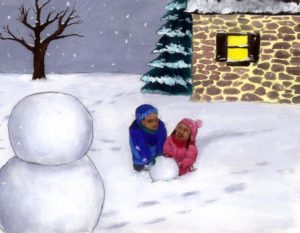 children making a snowman: teaching sight words to struggling readers, how to teach sight words to struggling readers, teaching, writing journals, teaching reading in 15 minutes/day, education, homeschool curriculum for reading,