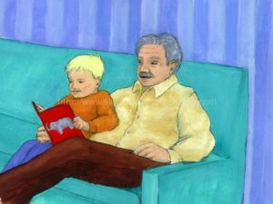 boy reading to grandfather: homeschoolers, children's education, how to teach phonics to struggling readers, literacy, learn to read, teaching children, language arts, teaching reading made easy, teaching aides,