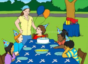 children at a birthday party: home school, reading programs, reading, educational software, kindergarten, phonics websites, first grade, how to teach phonics to struggling readers,