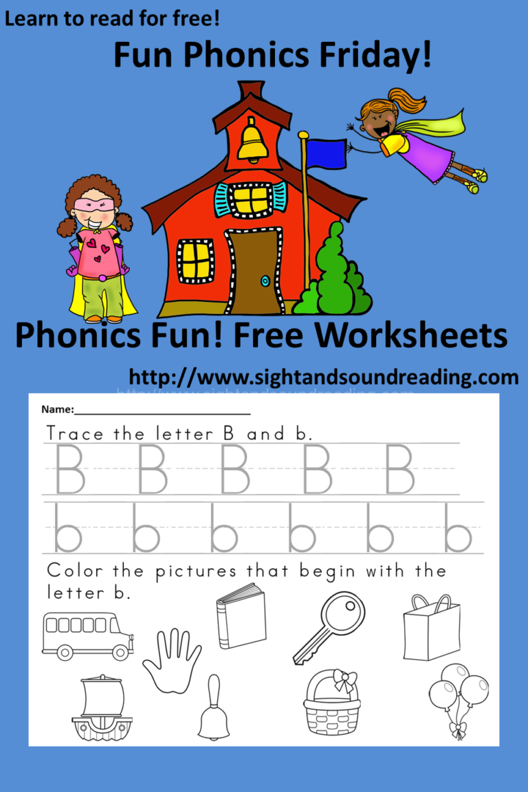 Free, fun, phonics Friday -trace and color sheets