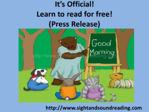 Learn to read for free!  Press release  of official launch