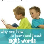 How to teach the sight words