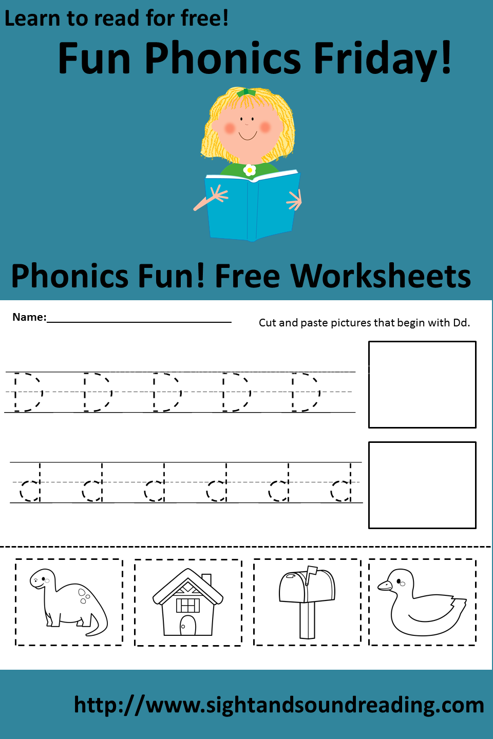 worksheet Cut And Paste Beginning Sounds Worksheets free worksheet to teach the letter dd