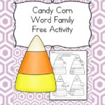 Kindergarten Halloween Phonics Worksheet - Have fun with Phonics and Candy corns! Build the CVC words on the candy corn for Halloween Phonics Fun!