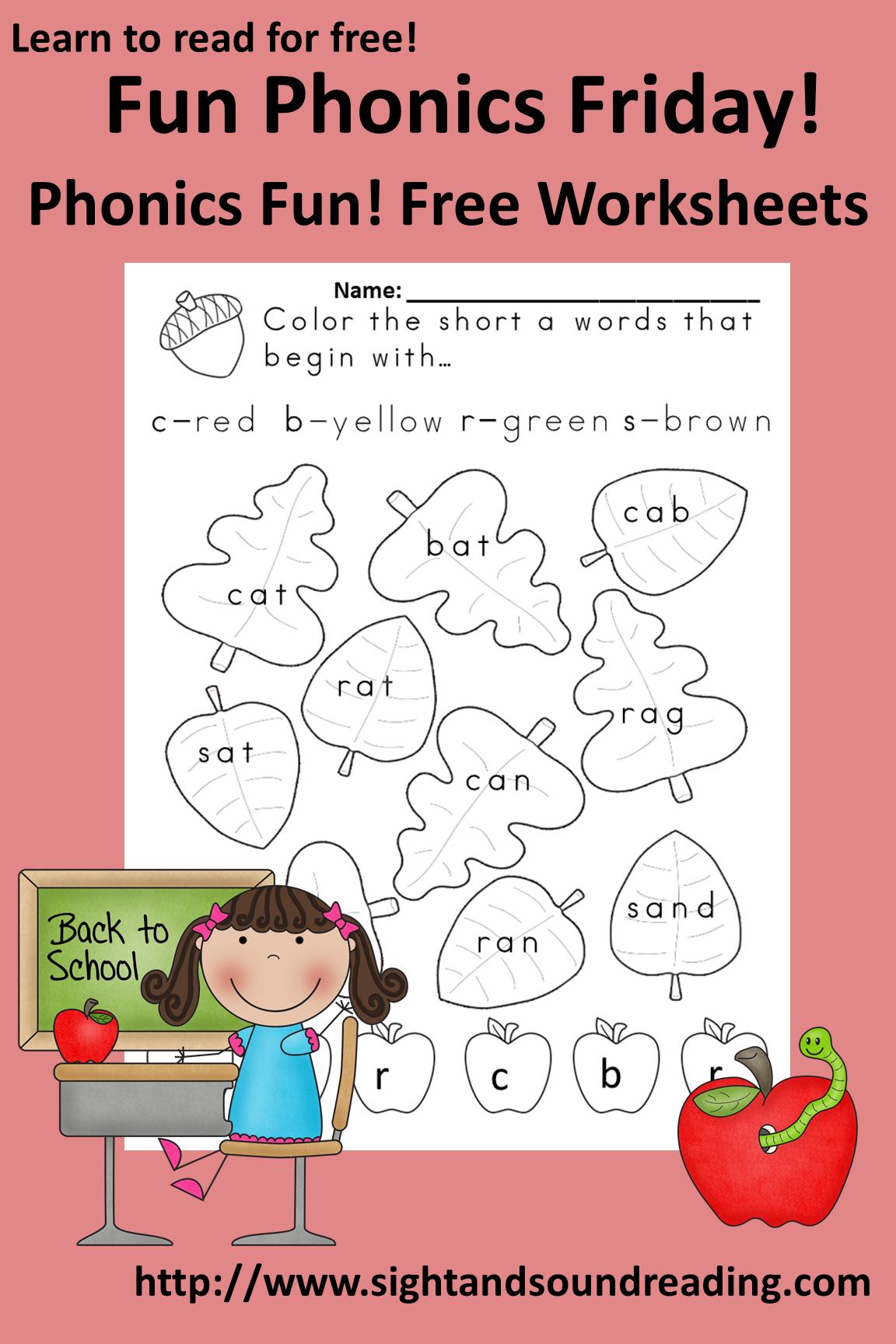 Free Printable Worksheet For Kindergarten Phonics Templates and – Phonics for Kindergarten Worksheets