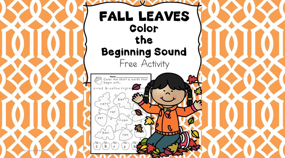 Beginning Sounds -Fall Leaves Phonics Fun -Free Activity