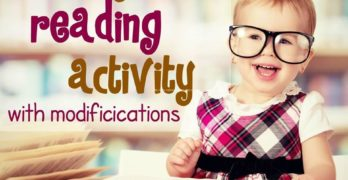 Kindergarten Reading Activity with Modifications