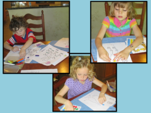Kindergarten reading activity with modifications. Great for special needs, a classroom or homeschool!
