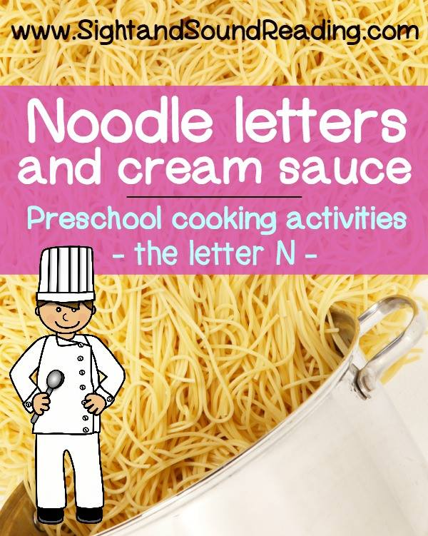 Noodle Letters and Cream Sauce