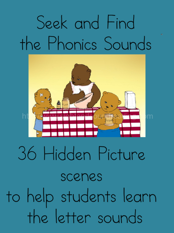 Seek and Find the Phonics sounds -fun workbook to help teach phonics