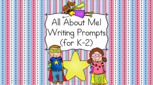 All About Me Writing Prompts: Get to know your students better with these fun all About Me prompts great for kindergarten, first or second grade.