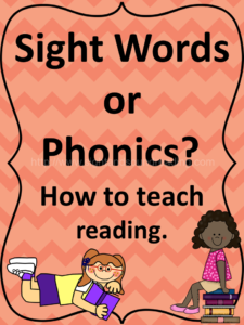 Sight Words or Phonics. How to teach reading. More resources available at https://www.sightandsoundreading.com///newsite