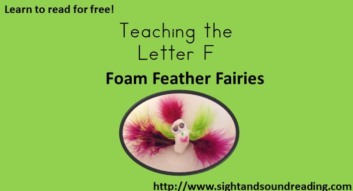 Letter Ff:  Foam Feather Fairies