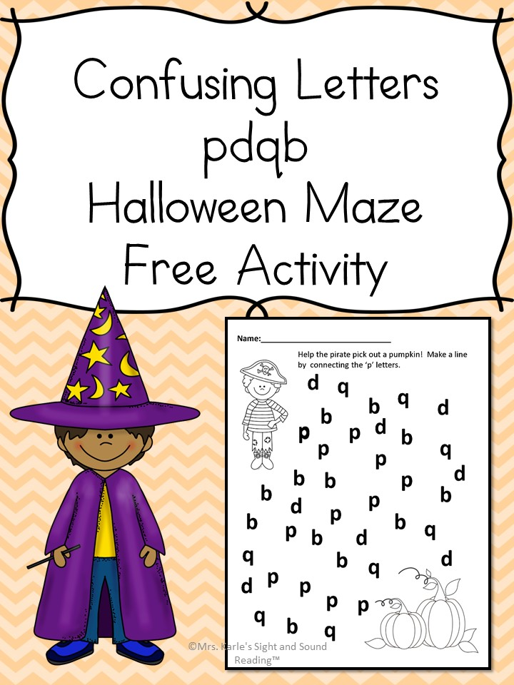 Confusing Letter Halloween Maze - Free, fun, confusing maze - can you navigate through the confusing letters to get to the pumpkin?