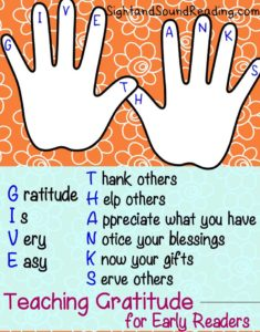 Graditude Worksheets for Kids: Teaching gratitude to children