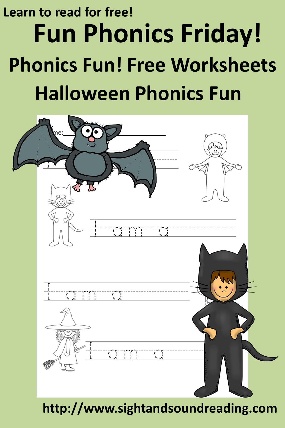 First grade halloween phonics worksheets