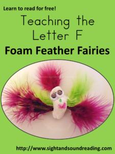 Making fairies - Teaching the letter F