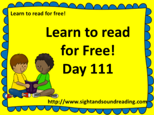 Learn to read for free!  https://www.sightandsoundreading.com